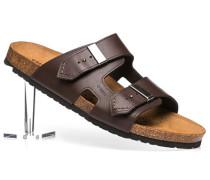 Herren Schuhe Sandalen Leder dunkelbraun