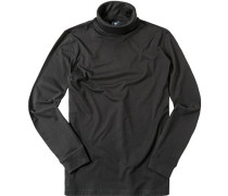 Herren Rollkragen-Shirt Baumwolle schwarz