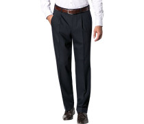 Herren Hose Milano-U Classic Fit Schurwoll-Mix mit Stretch navy
