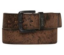 Herren Gürtel dunkelbraun, Breite ca. 4,5 cm