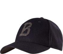 Herren Cap, Wolle, navy blau