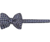 Krawatte Schleife Seide dunkelblau