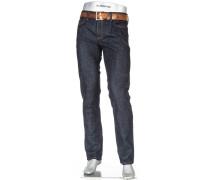 Herren Jeans Pipe, Regular Slim Fit, Baumwolle-Stretch, dunkelblau