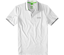 Herren Polo-Shirt Modern Fit Baumwoll-Piqué weiß