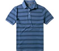 Herren Polo-Shirt Baumwoll-Piqué rauch gestreift