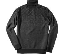 Herren Pullover Woll-Mix -grau gemustert