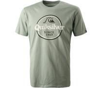 T-Shirt, Regular Fit, Baumwolle, schilf