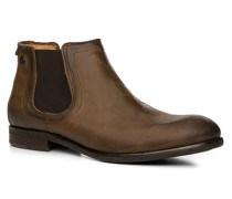 Herren Schuhe Chelsea Boots, Leder, mittelbraun