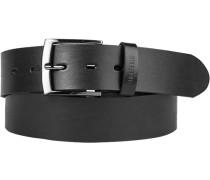 Herren Gürtel schwarz, Breite ca. 4 cm