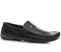 Herren Schuhe Mokassins Leder schwarz