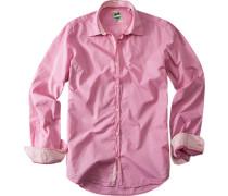 Herren Hemd Slim Fit Popeline pink rosa