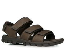 Herren Schuhe Sandalen Leder braun