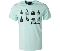 T-Shirt Tailored Fit Baumwolle mint