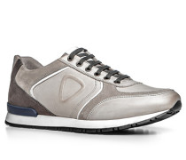 Herren Schuhe Sneaker Leder hellgrau