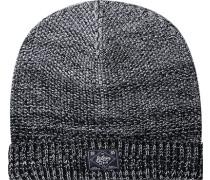 Herren Mütze Baumwoll-Mix nacht-weiß meliert