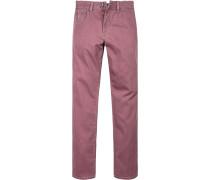 Herren Jeans Regular Fit Baumwoll-Stretch rotbraun