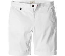 Herren Hose Bermudas Regular Fit Baumwoll-Stretch weiß