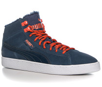 Schuhe Sneaker Mid Veloursleder navy