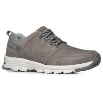 Herren Schuhe Sneaker, Nubukleder, grau