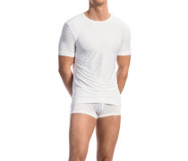 Herren T-Shirt Microfaser-Stretch gestreift