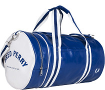 Herren FRED PERRY Sporttasche Kunstleder blau