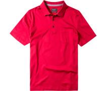 Herren Polo-Shirt, Baumwolle mercerisiert, rot