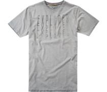 Herren T-Shirt Baumwolle hellgrau