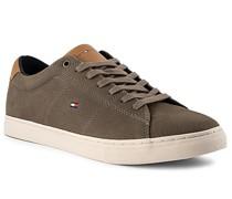 Schuhe Sneaker Nubukleder oliv