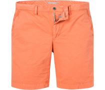 Herren Hose Bermudashorts, Classic Fit, Baumwolle, orange