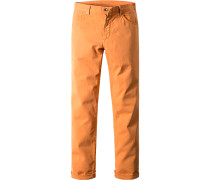 Herren Jeans, Regular Fit, Baumwoll-Stretch, orange