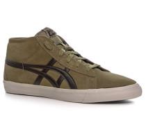 Herren Schuhe Sneaker Veloursleder schlamm grün