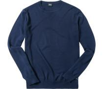 Herren Pullover Wolle navy blau