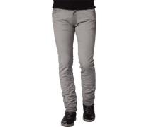 Herren Jeans, Baumwoll-Stretch, grau