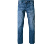Herren Jeans Modern Fit Baumwoll-Stretch indigo blau
