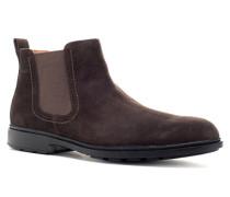Herren Schuhe Chelsea Boots Nubukleder dunkel