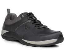 Herren Schuhe Sneaker, Nubukleder, graublau
