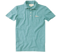 Herren Polo-Shirt Baumwoll-Piqué türkis grün