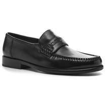 Herren Schuhe Loafers, Lammnappa, schwarz