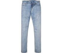 Herren Jeans Modern Fit Baumwolle hellblau
