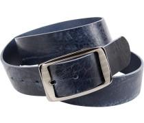 Herren Gürtel blau, Breite ca. 4 cm