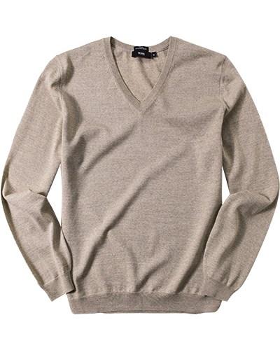 hugo boss herren herren pullover slim fit schurwolle beige meliert reduziert. Black Bedroom Furniture Sets. Home Design Ideas