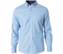 Herren Hemd Tailored Fit Baumwolle himmelblau