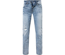 Herren Jeans Regular Fit Baumwolle hellblau
