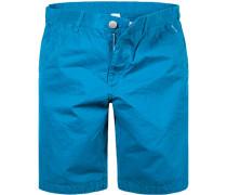 Herren Hose Bermudashorts Modern Fit Baumwolle azurblau