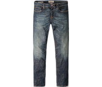 Herren Jeans Adam Baumwoll-Stretch indigo blau