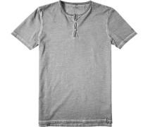 Herren T-Shirt Baumwolle hell meliert