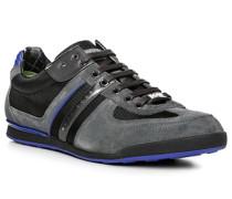 Herren Schuhe Sneaker Veloursleder-Nylon grau