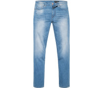 Herren Jeans Slim Fit Baumwoll-Stretch hell