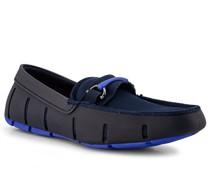 Schuhe Loafer Kautschuk-Textil marine