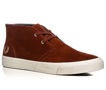 Herren Schuhe Desert Boots Veloursleder rotorange